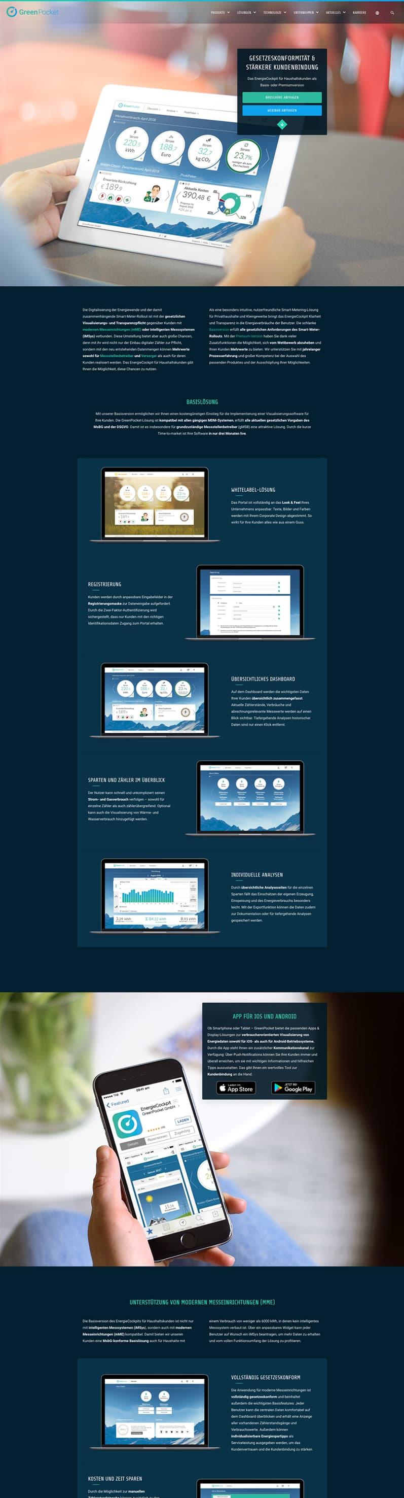 Startseite Webflow Website - GreenPocket