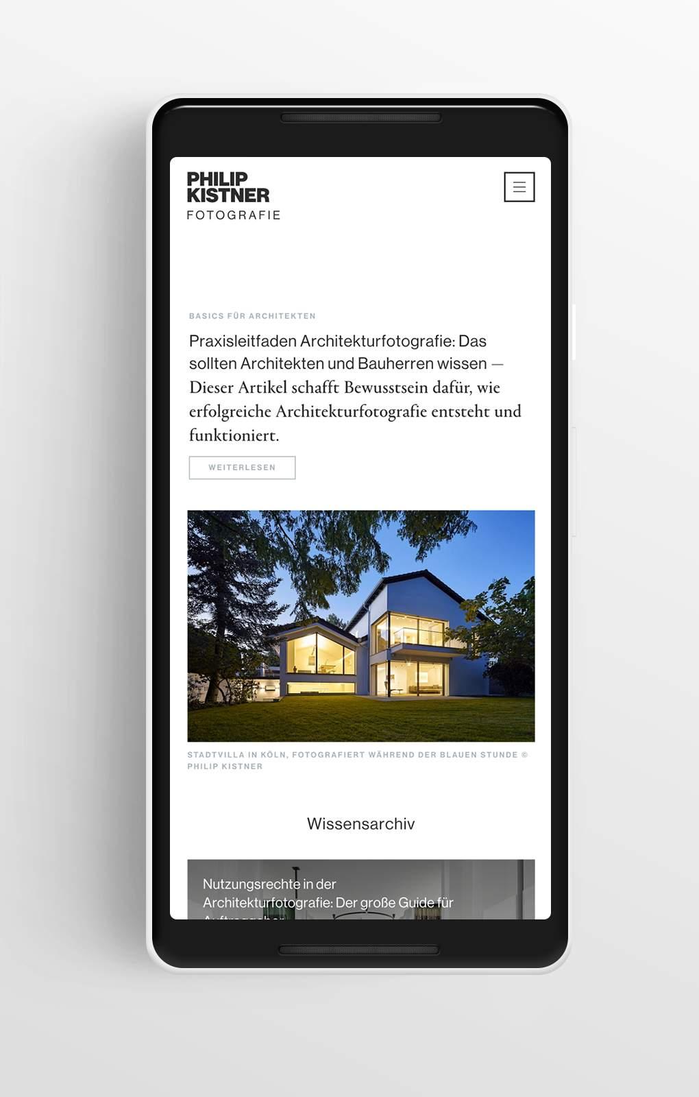Übersichtsseite - Wissen - Philip Kistner - Mobile