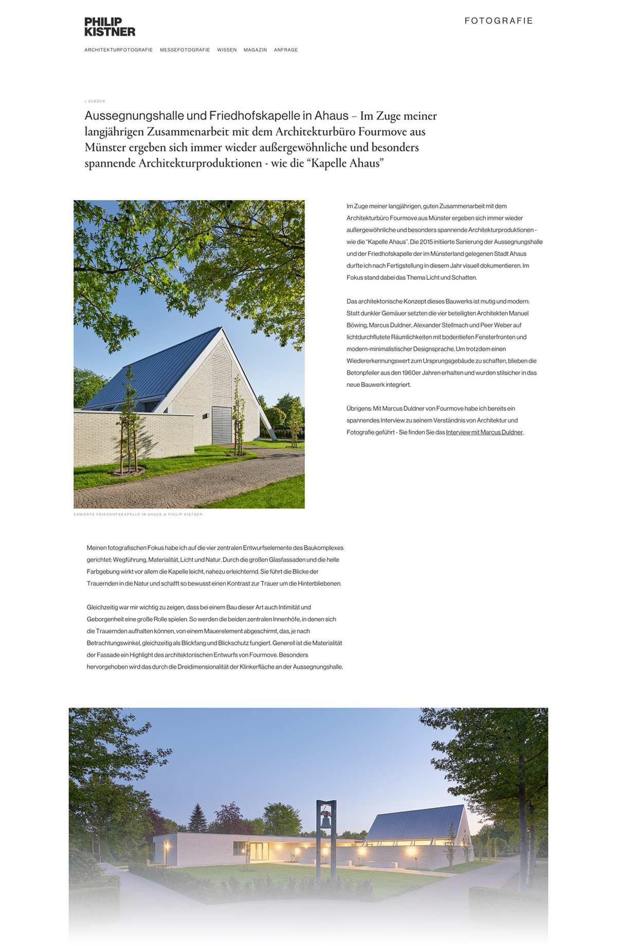 Detailseite Magazin Desktop - Philip Kistner