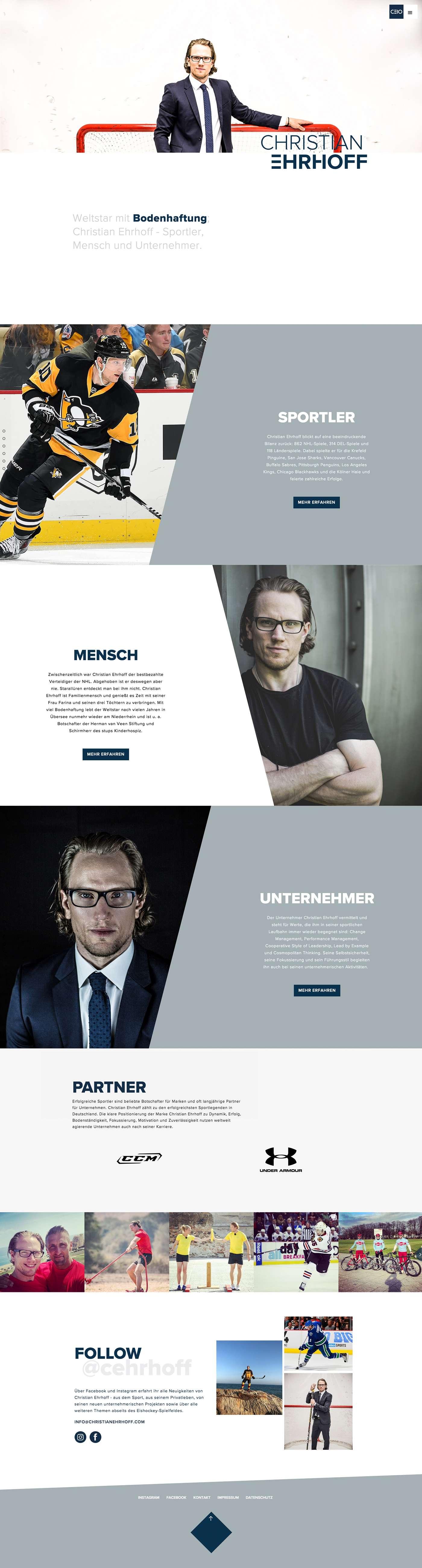 Webseite Christian Erhoff