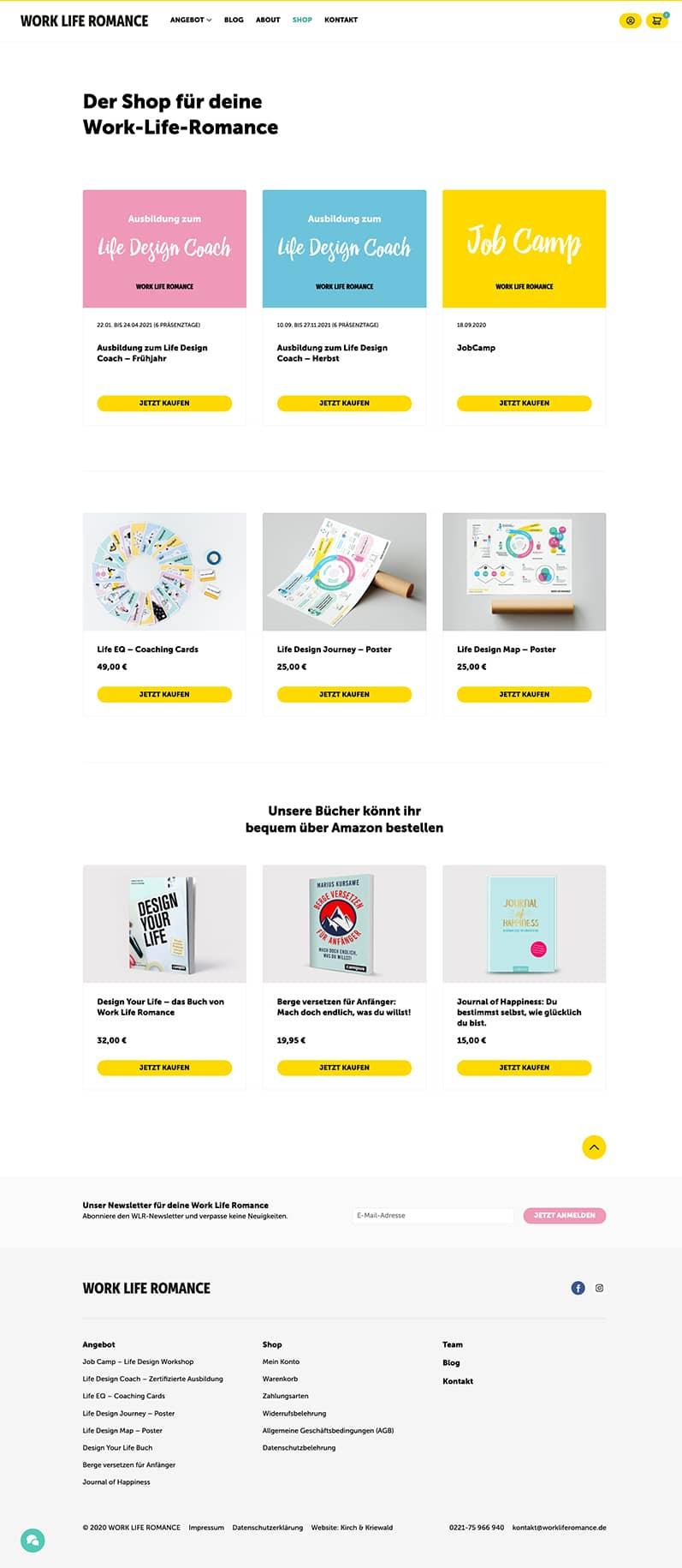 Detailseite Shop Desktop - Work Life Romance