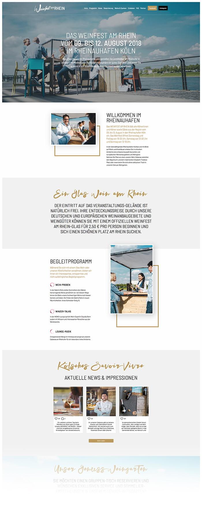 Webseite - Weinfest am Rhein