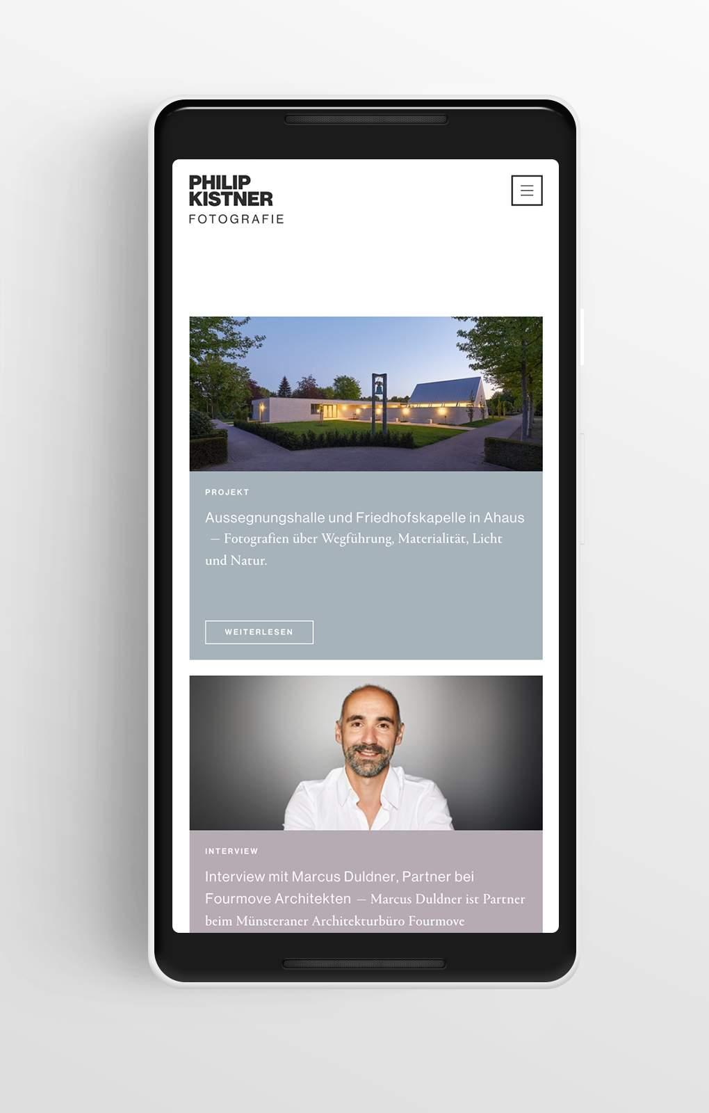 Übersicht Magazin - Philip Kistner - Mobile