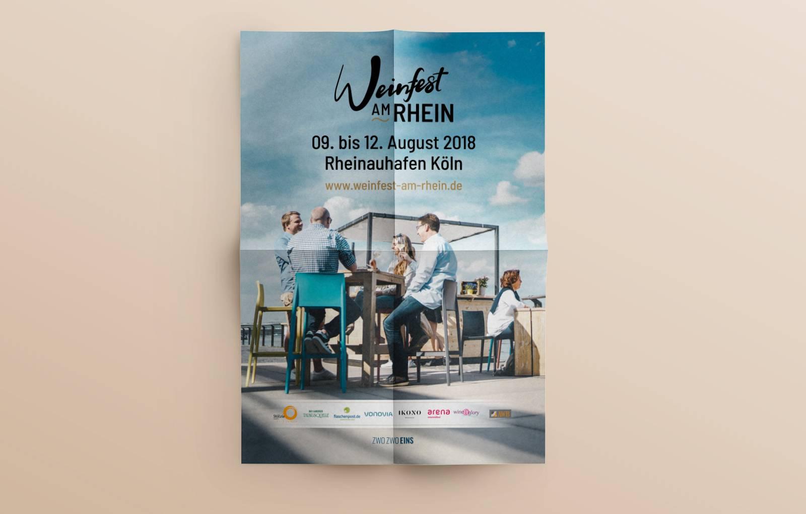 Plakat - Weinfest am Rhein