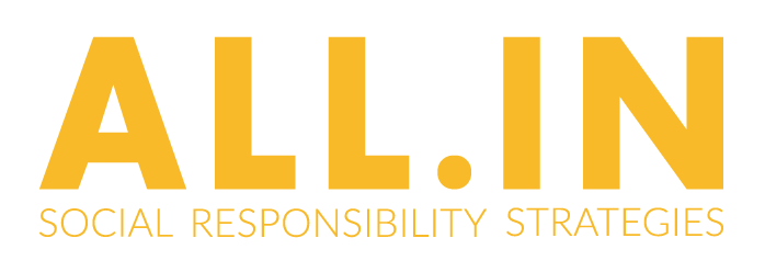Rolling Water Group, All.In social responsibility Strategies Logo.