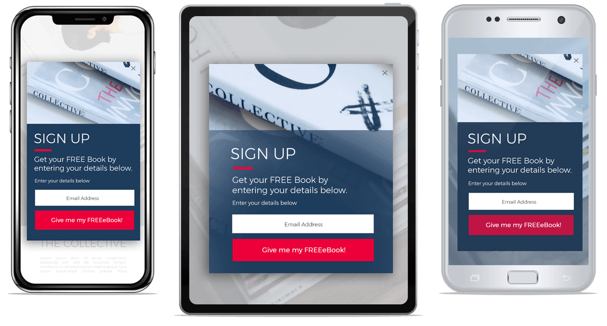 responsive pop-up form example