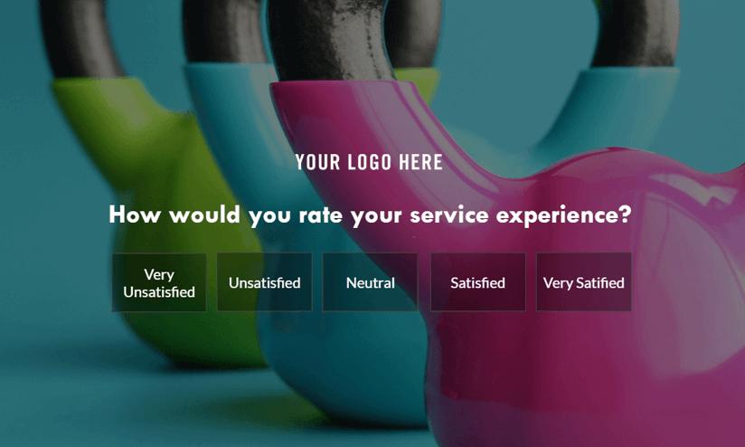 full-screen NPS survey example
