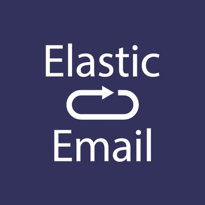 elastic email logo background