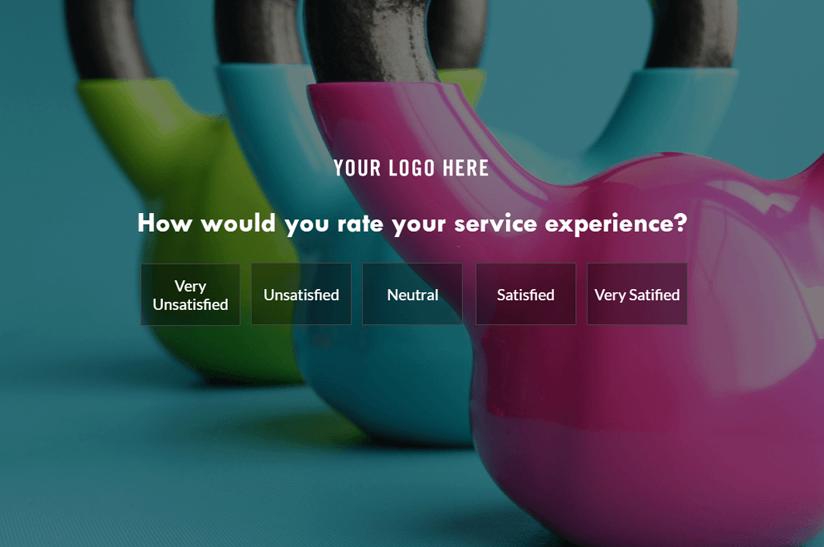 fullscreen lightbox survey popup
