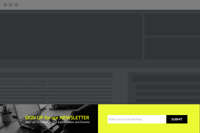 email signup banner template example