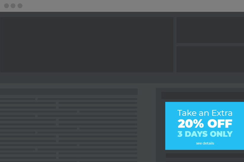 inline website CTA promoting a discount