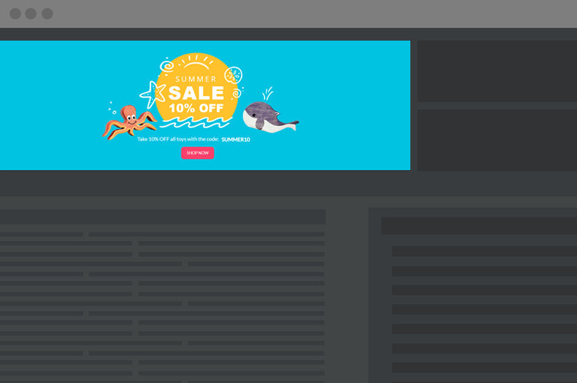 dynamic website hero section template