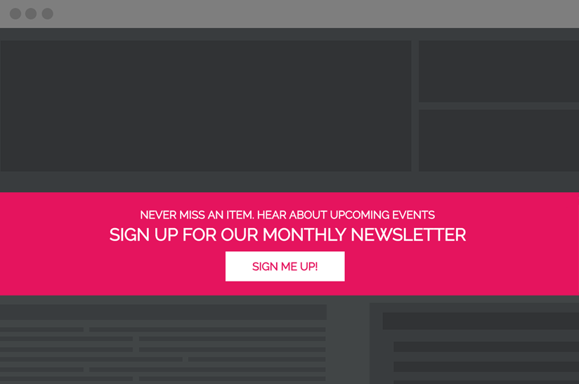 inline website CTA that spans the full width of the page