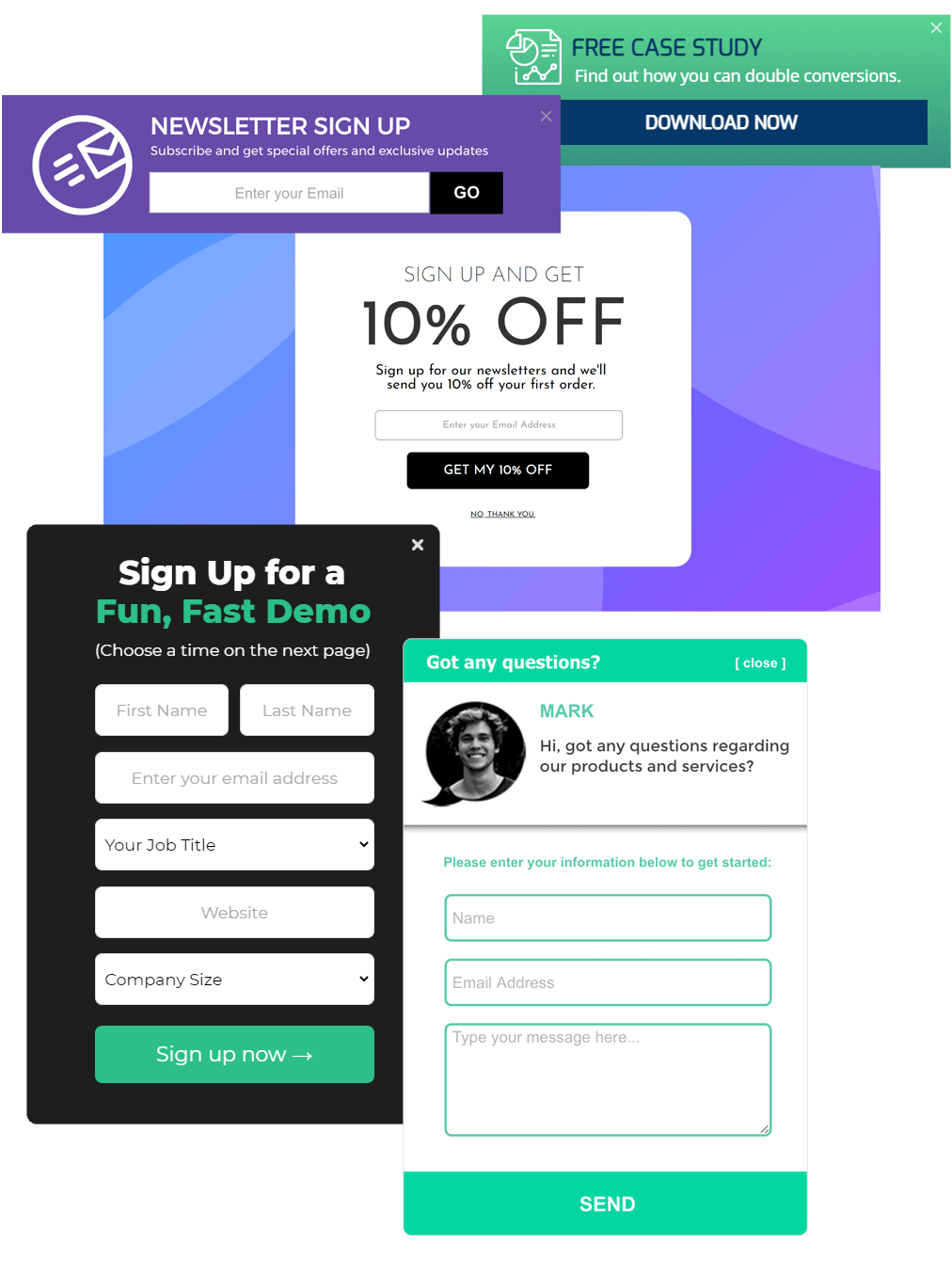 capture form examples for SaaS companies
