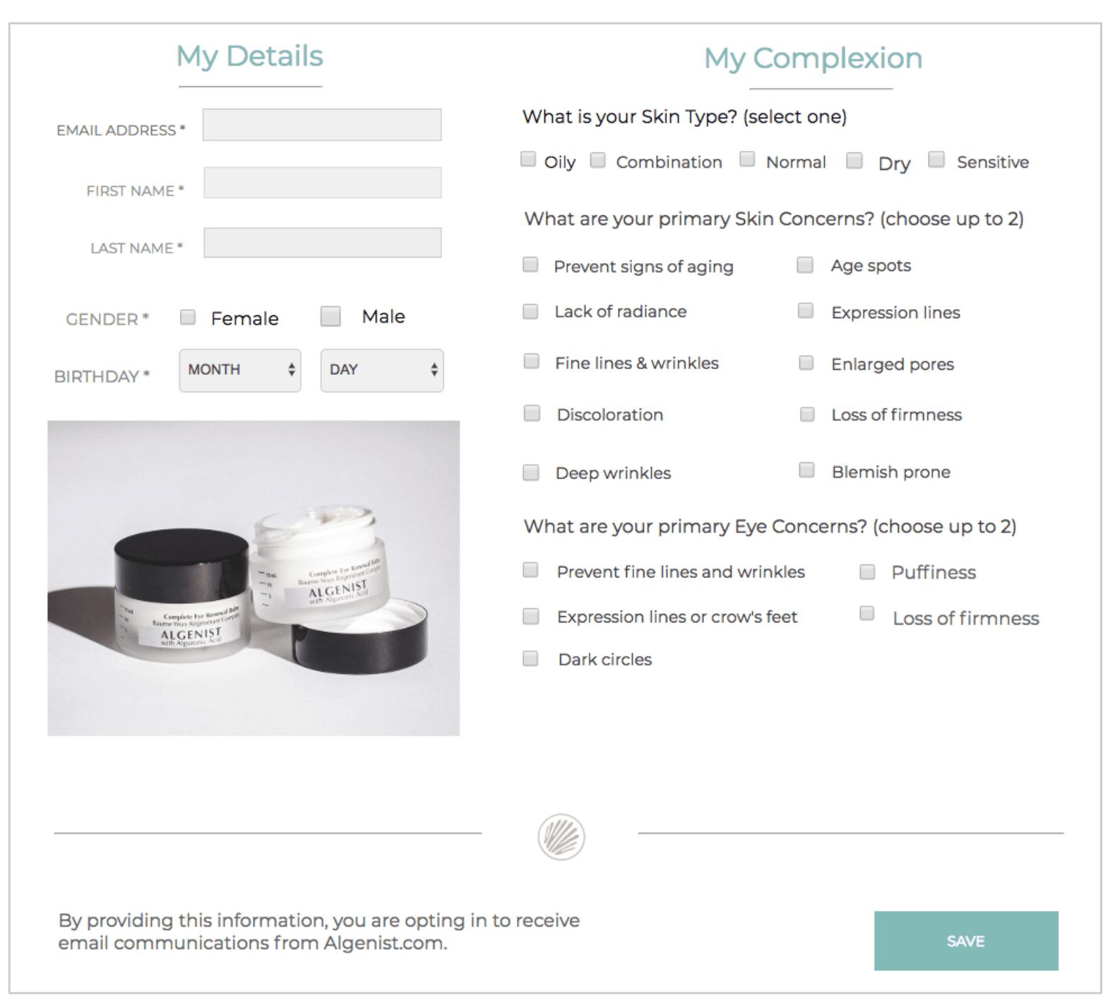 custom profile center