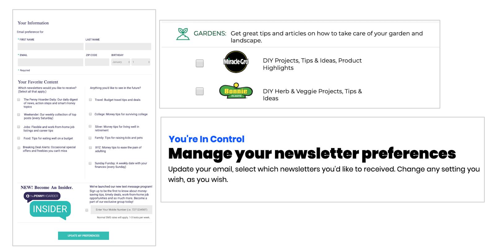branded preference center