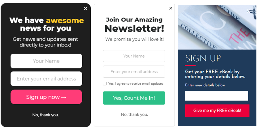 examples of mobile-friendly responsive forms