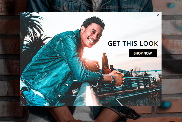 lightbox cta for a clothing ecommerce website
