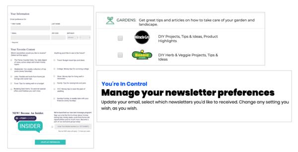custom preference page branding