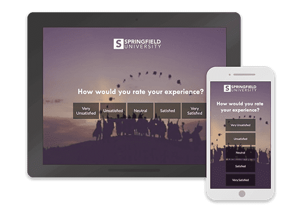 braze survey templates on desktop and mobile