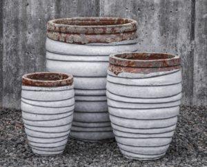 Cylindrical Planter-Beachcomber White