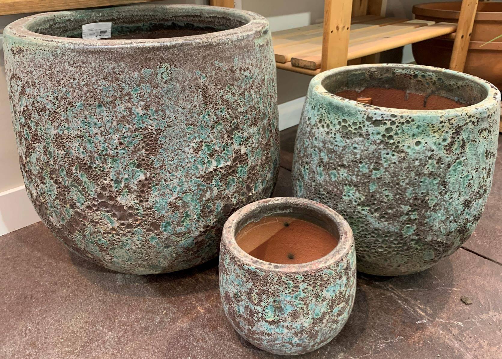 Unique, hand-crafted Lava Glaze pottery