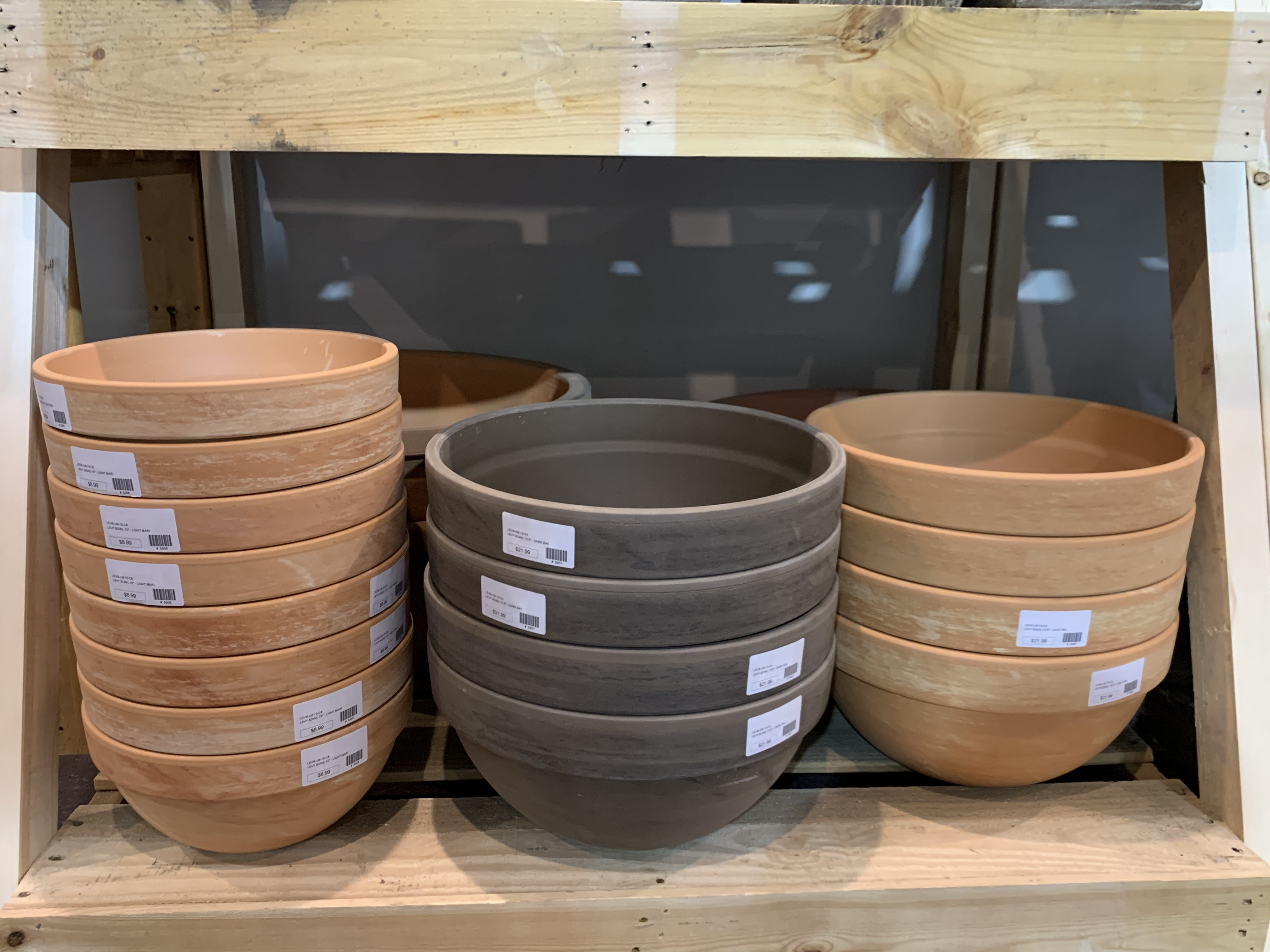 Perfect low planter for succulent displays