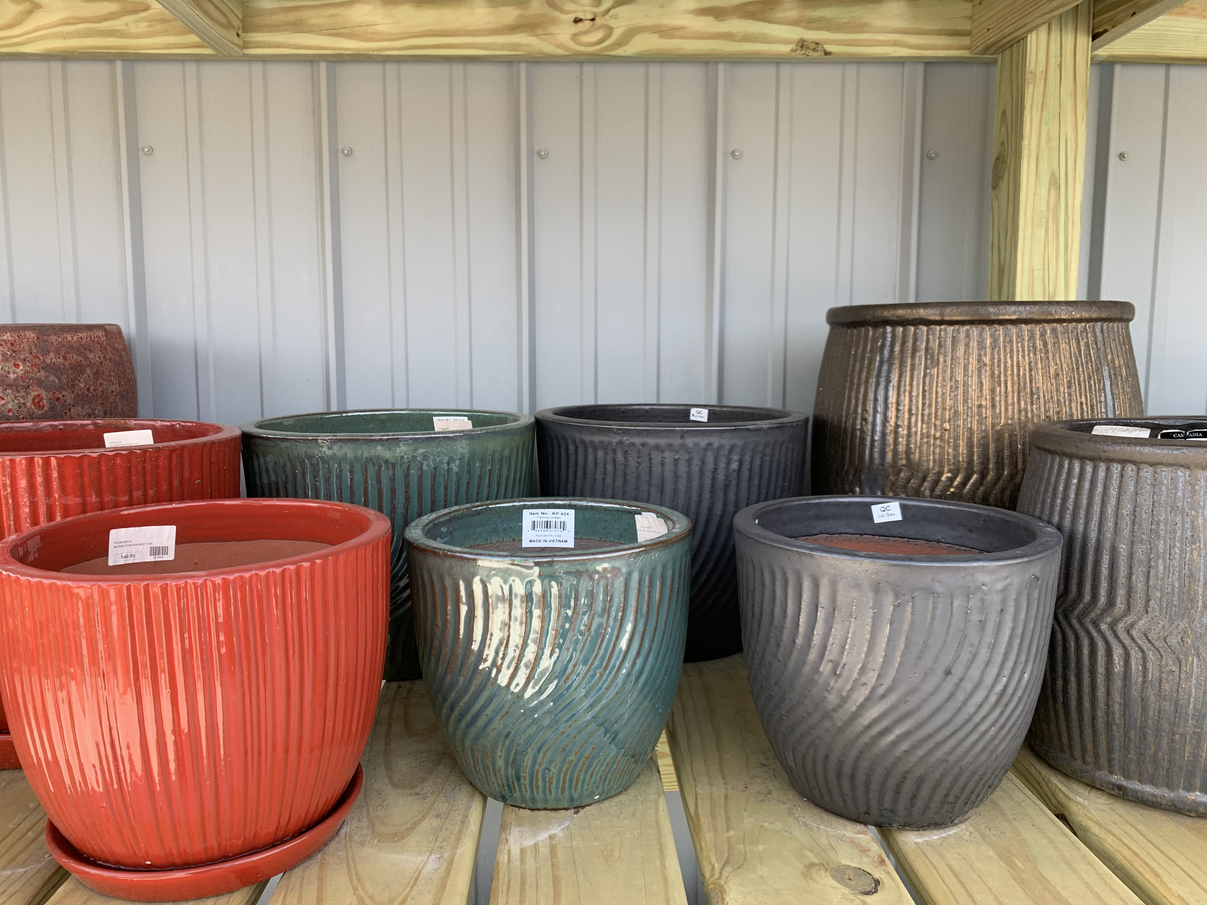 Glazed Pottery Planters