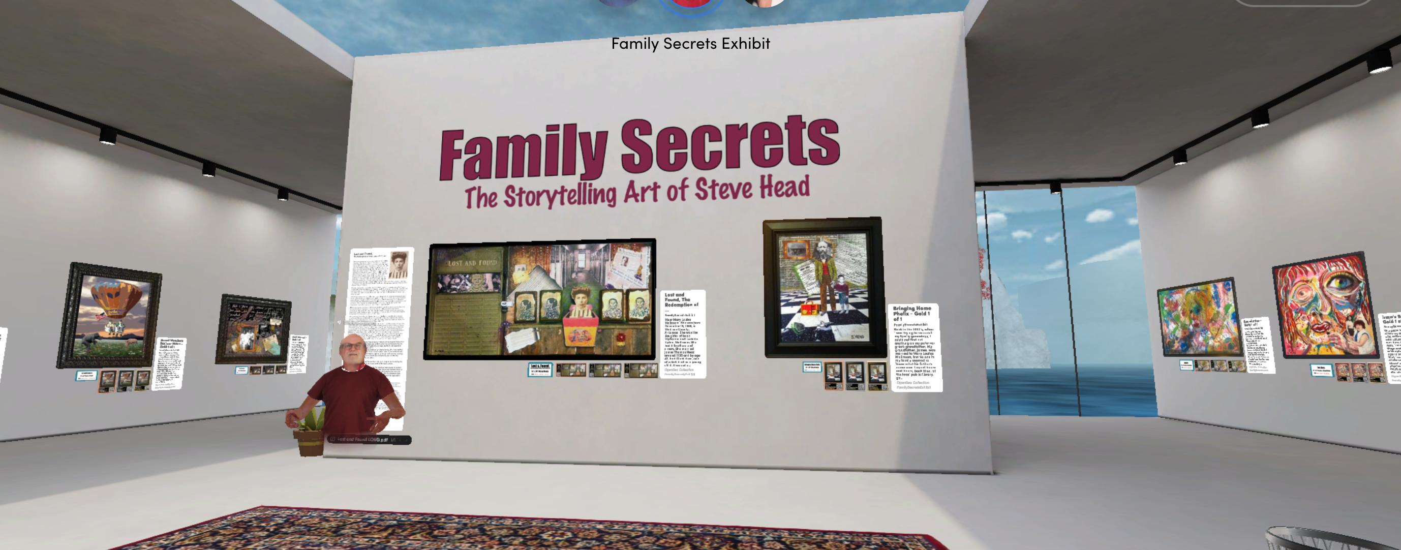 Family Secrets NFT Art Exhibit & The Healing Power of Storytelling in VR