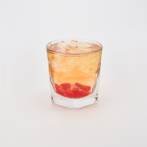 Jameson's Black Barrel Whiskey & Sprite with muddled cherries