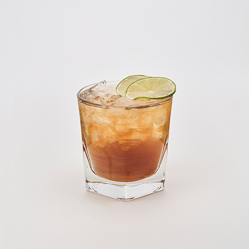 Bacardi Rum & Coca Cola with a splash of lime juice