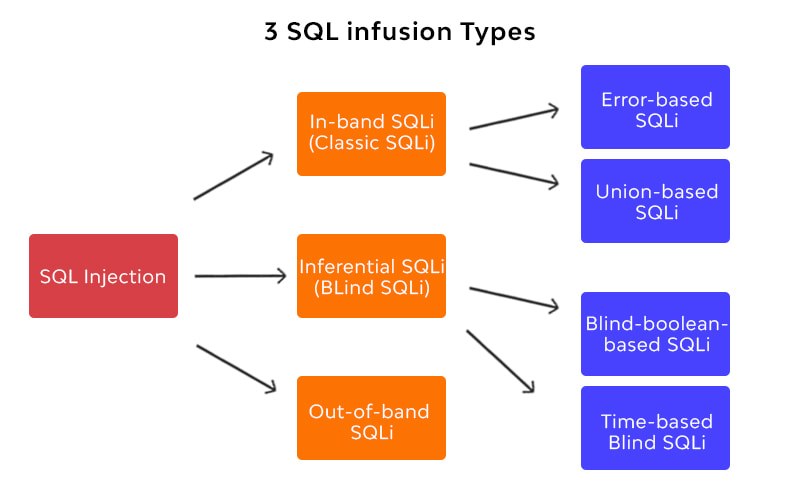 SQL infusion Types
