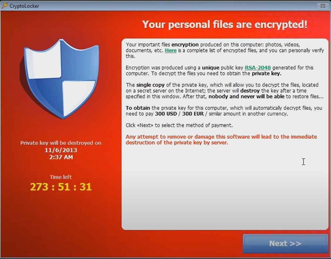 Cryptolocker example