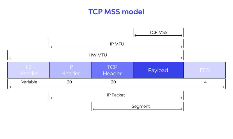 TCP MSS model