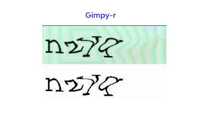 Gimpy-r captcha