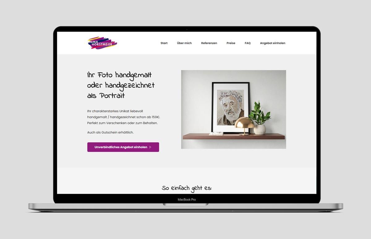 Webdesign Case Study einer Künstlerin
