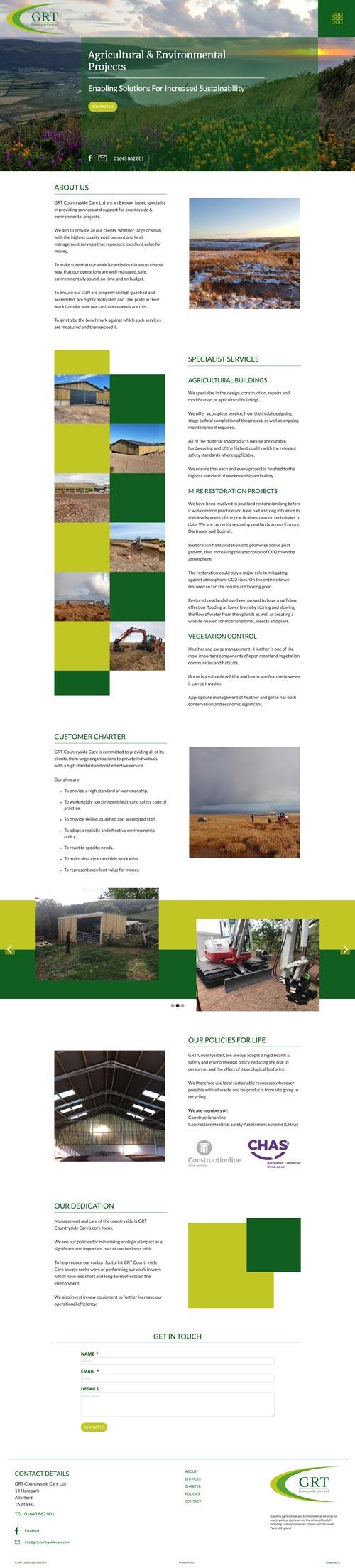 GRT countryside Care UK webs design