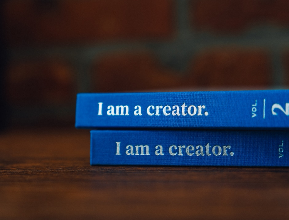 Two I Am A Creator books stacked on top of each other