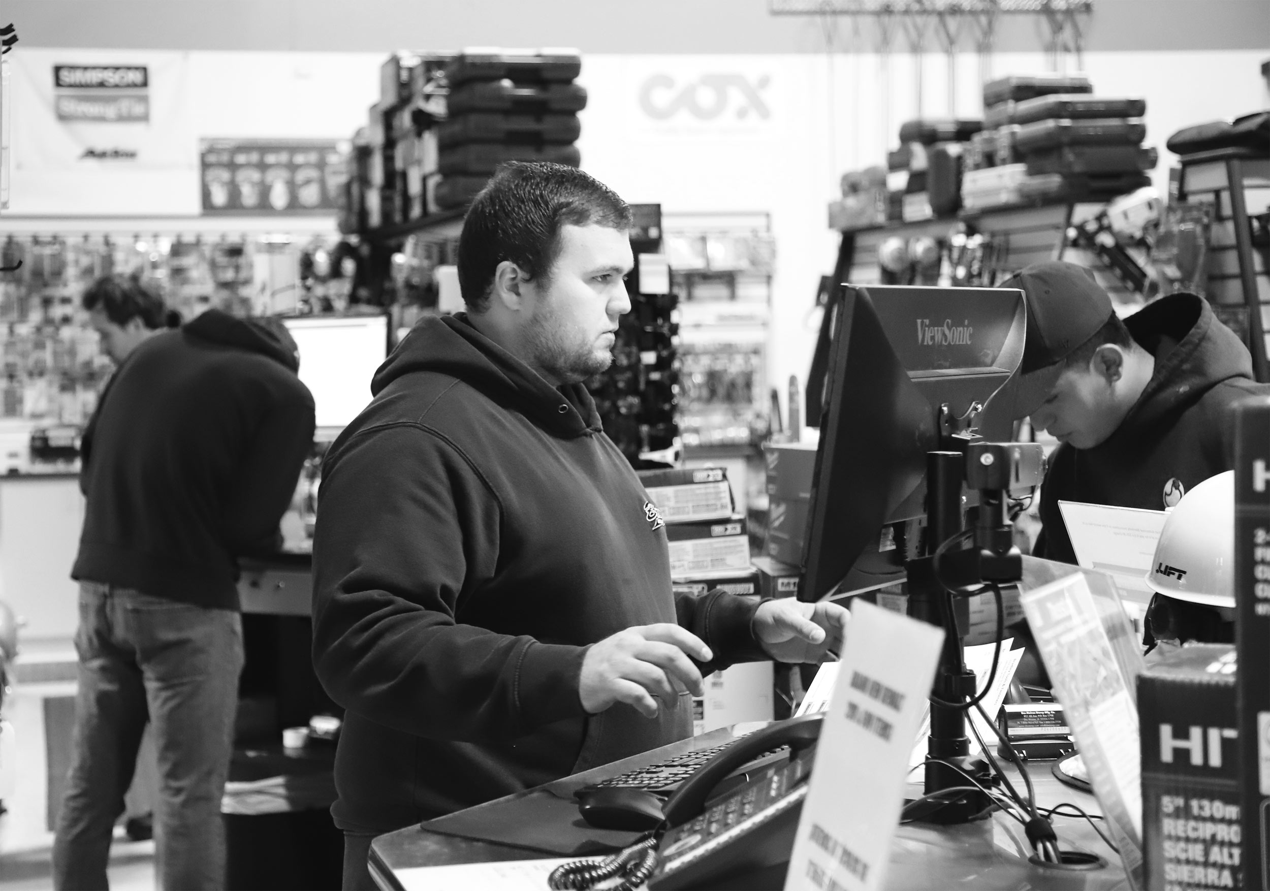 Bradley Tools Employees selling and renting tools.