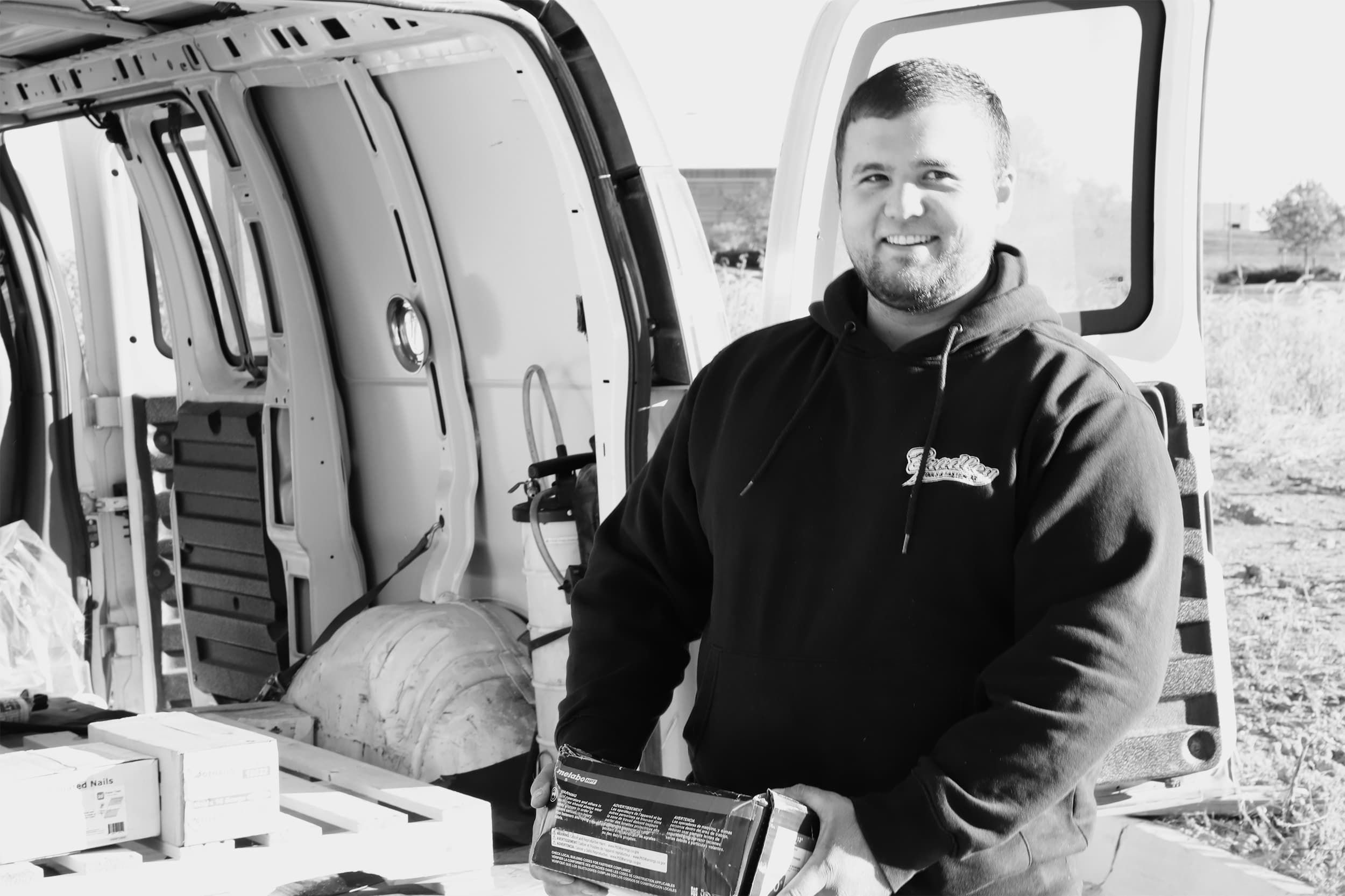 Bradley Tools employee making a tool delivery