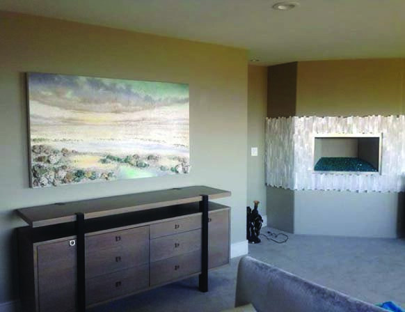 Painting in Clients Home