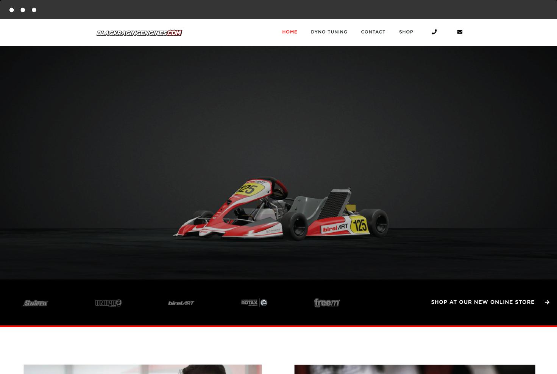Image of Black Racing Engine's Website