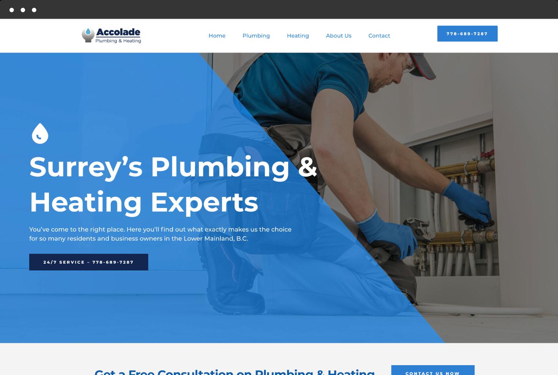 Image of Accolade Plumbing & Heating's Website