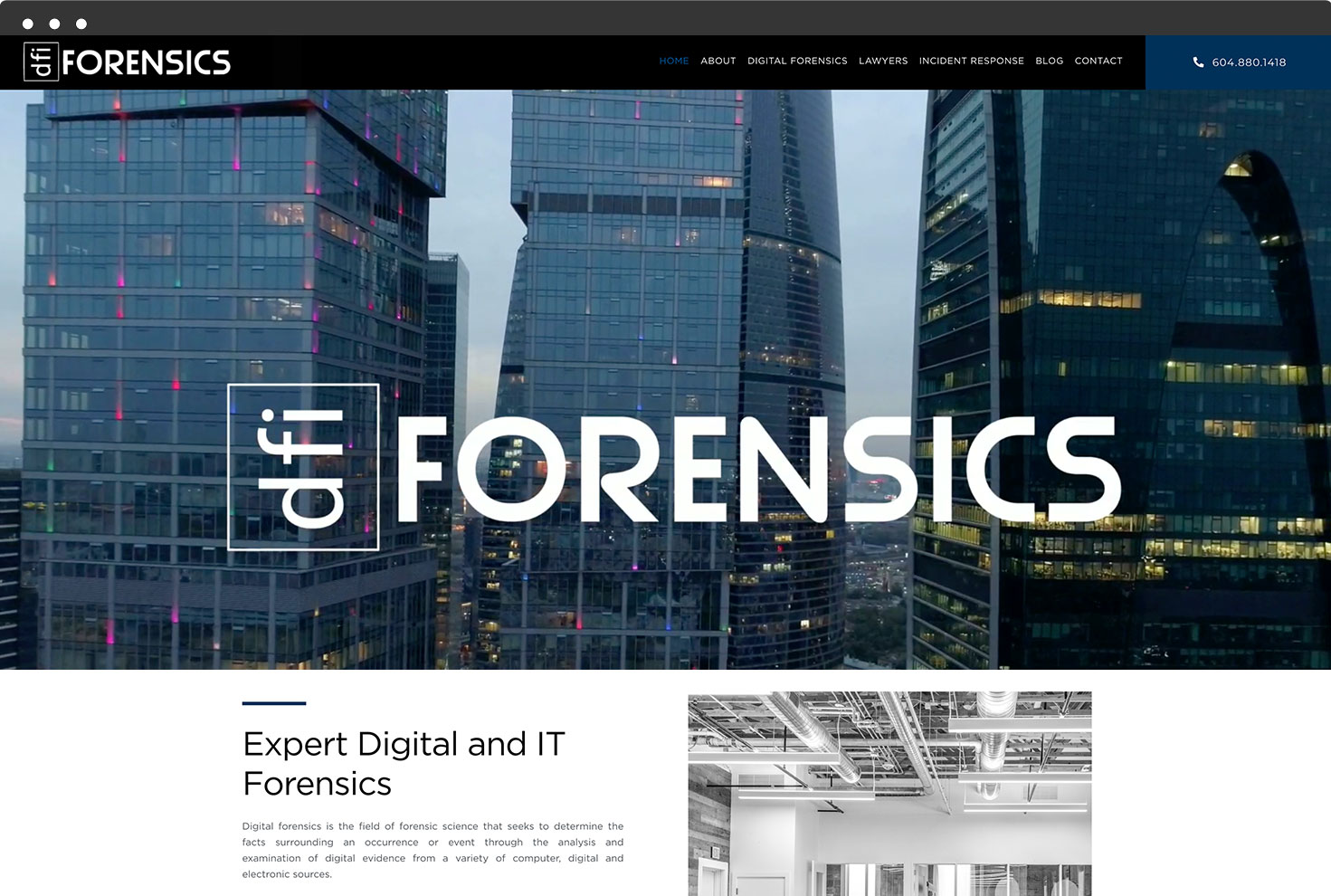 Image of DFI Forensic's Website
