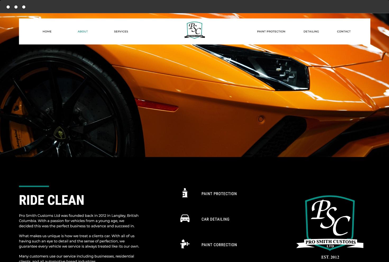 Image of Pro Smith Custom's Website