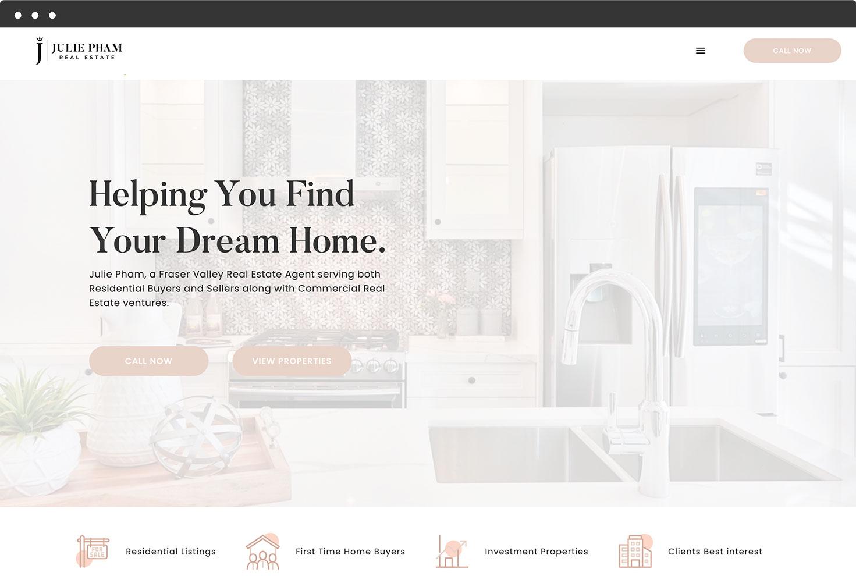 Image of Julie Pham Real Estate's Website