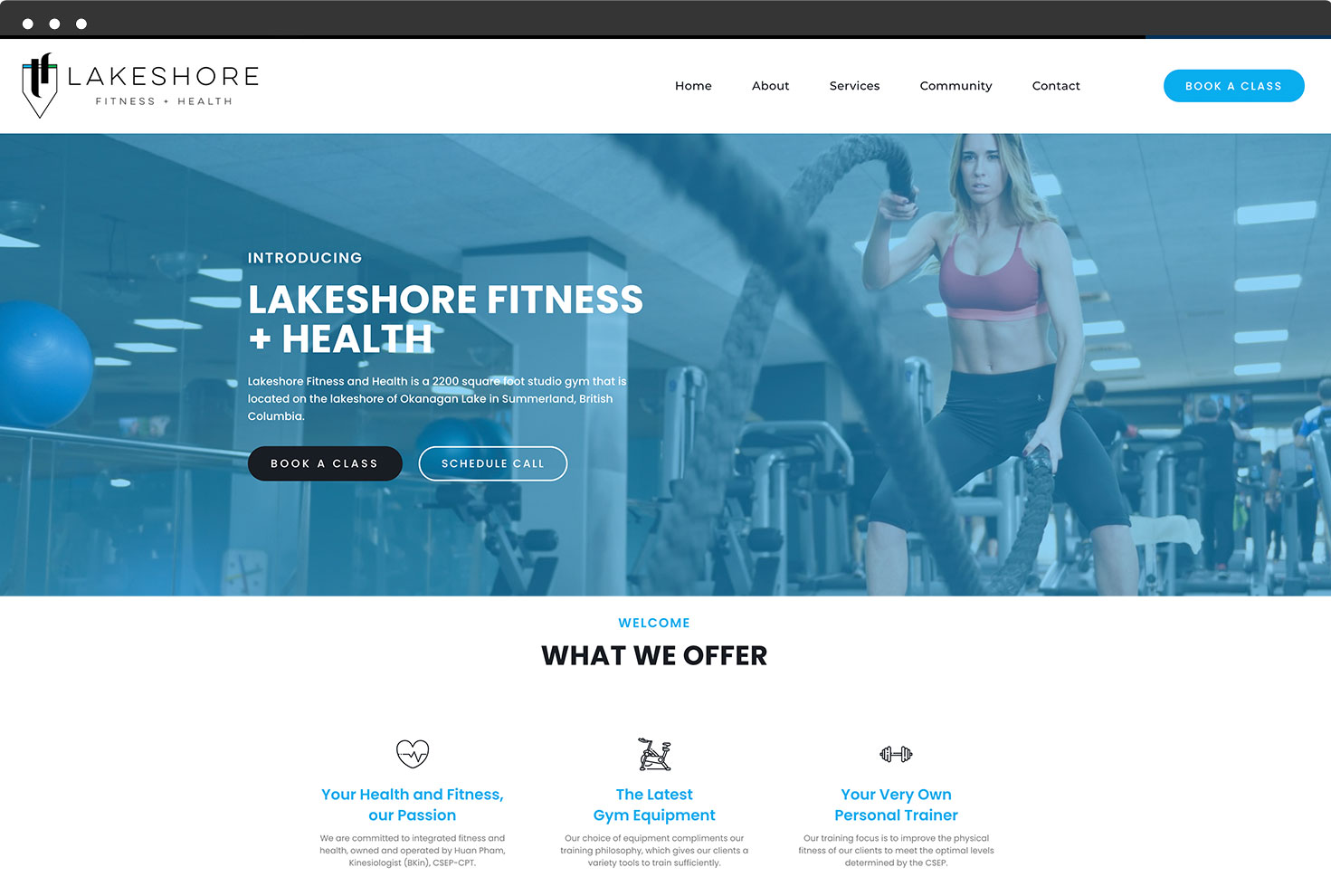 Image of Lakeshore Fitness's Website