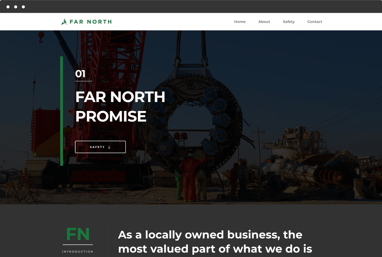 Image of Far North Crane's Website