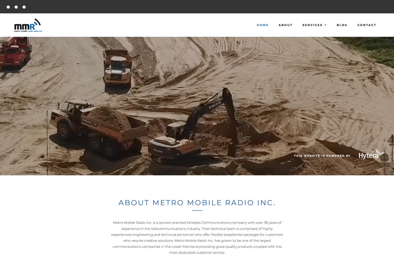 Image of Metro Mobile Radio's Website