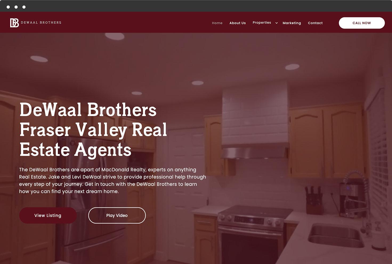 Image of DeWaal Brother's Website